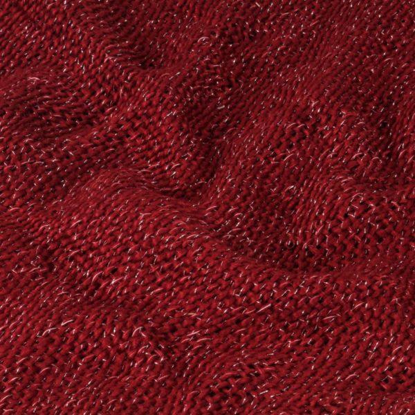 Überwurf Lurex 125×150 cm Burgunderrot