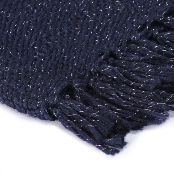 Überwurf Lurex 125×150 cm Marineblau