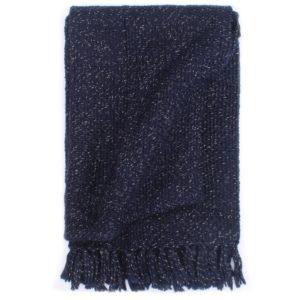 Überwurf Lurex 160×210 cm Marineblau