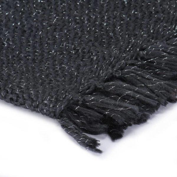 Überwurf Lurex 125×150 cm Anthrazit