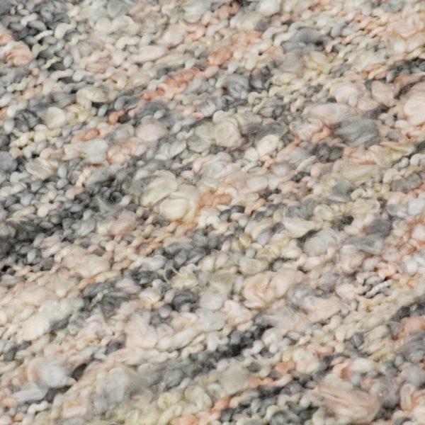 Überwurf 220×250 cm Rosa/Weiß/Grau
