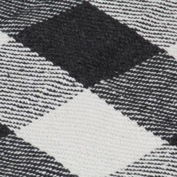 Überwurf Baumwolle Karo 220×250 cm Anthrazit
