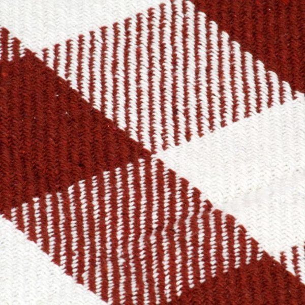 Überwurf Baumwolle Karo 220×250 cm Steinrot