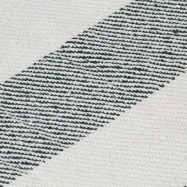 Überwurf Baumwolle Streifen 220×250 cm Dunkelgrün