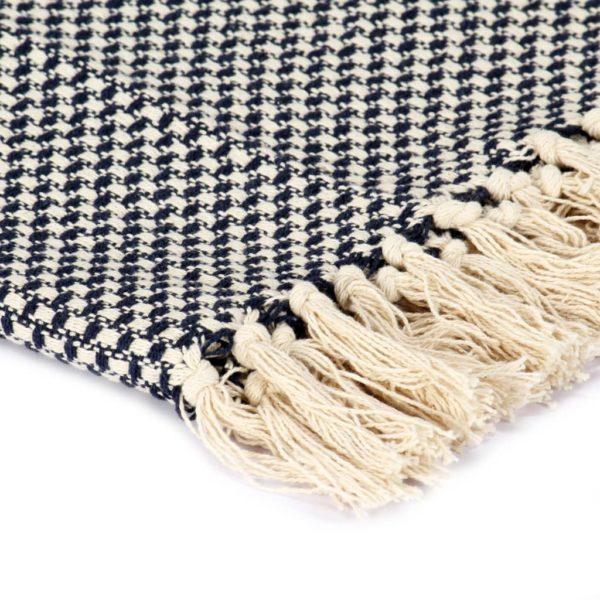 Überwurf Baumwolle 125×150 cm Marineblau