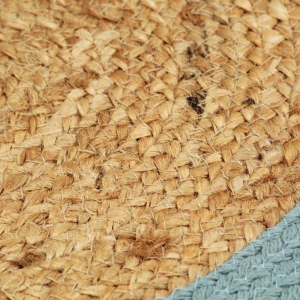Tischsets 4 Stk. Natur und Grün 38 cm Jute und Baumwolle