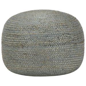 Handgefertigter Sitzpuff Olivgrün 45 x 30 cm Jute