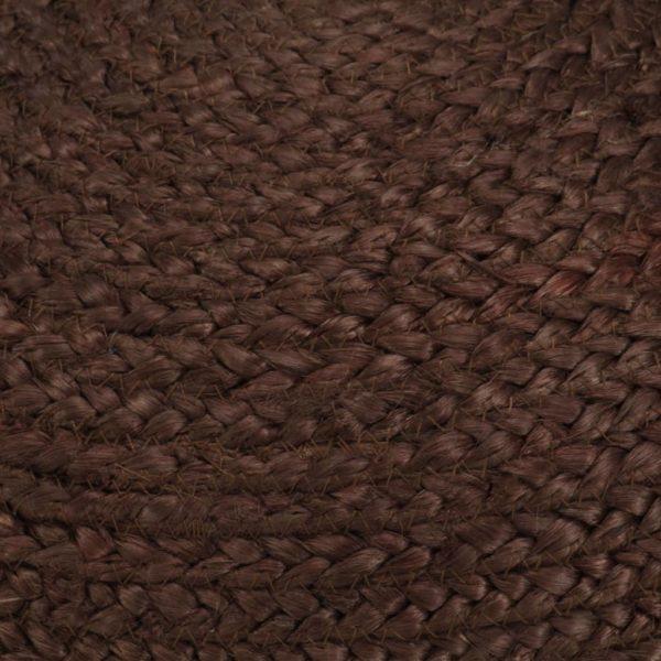 Handgefertigter Sitzpuff Braun 40 x 45 cm Jute