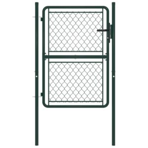 Gartentor Stahl 100×150 cm Grün