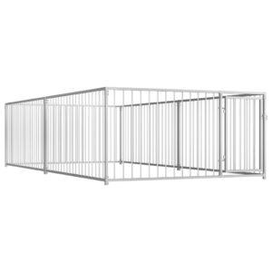 Outdoor-Hundezwinger 200×400×100 cm