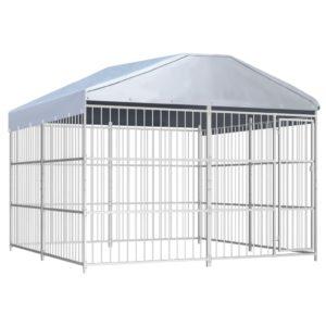 Outdoor-Hundezwinger mit Überdachung 300×300×200 cm