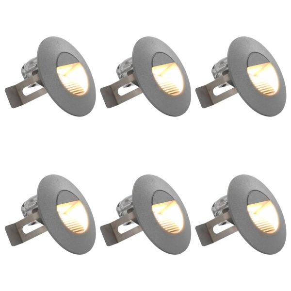 Außenwandleuchten 6 Stk. LED 5 W Silbern Rund
