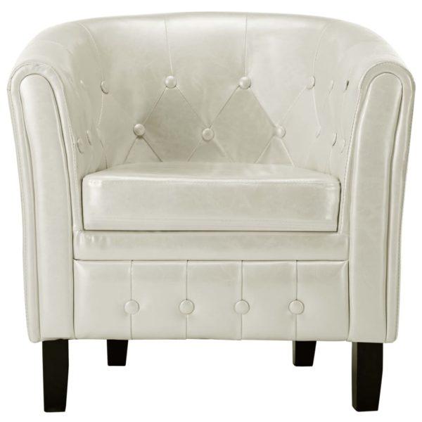 Sessel Weiß Kunstleder