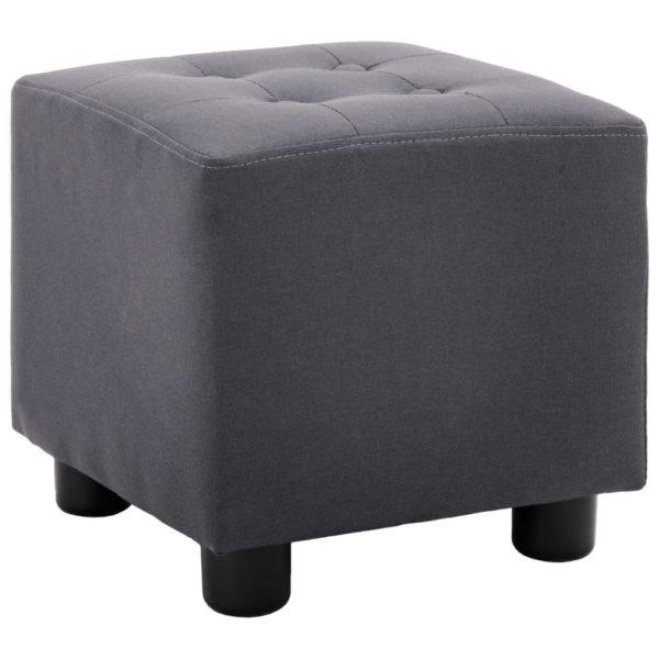 2-tlg. Sessel und Hocker Set Schwarz Stoff