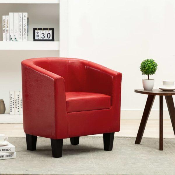 Sessel Rot Kunstleder