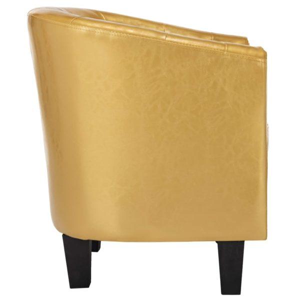 Sessel Glänzendes Golden Kunstleder