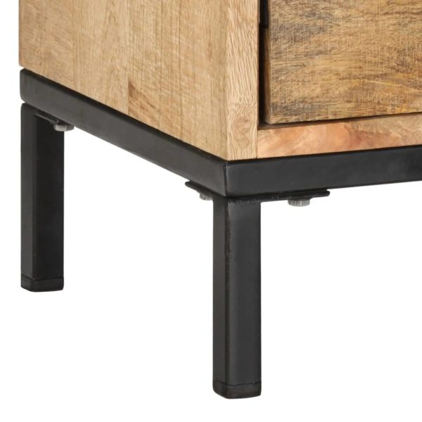 TV-Schrank 130 x 30 x 45 cm Mango-Massivholz