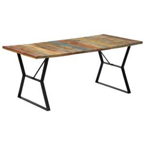 Esstisch 180 x 90 x 76 cm Recyceltes Massivholz