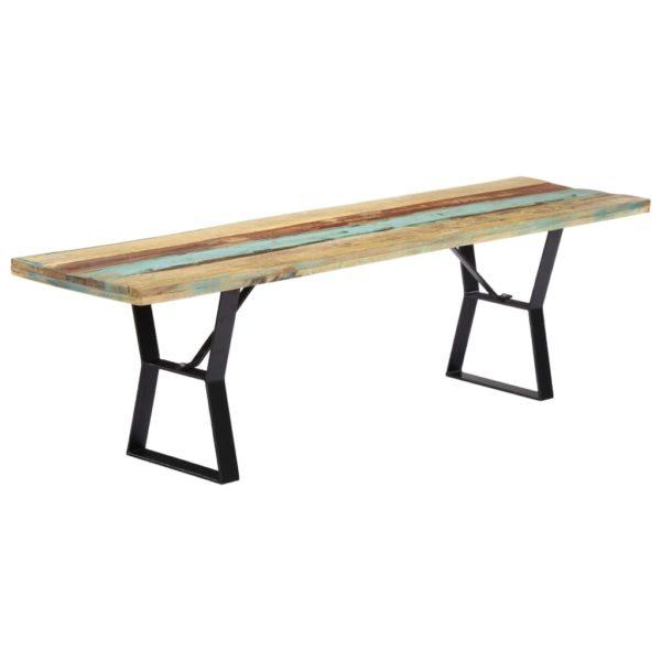 Sitzbank 160 cm Recyceltes Massivholz