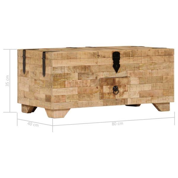 Couchtisch 80 x 40 x 35 cm Massivholz Mango