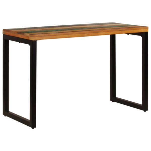 Esstisch 115 x 55 x 76 cm Recyceltes Massivholz und Stahl