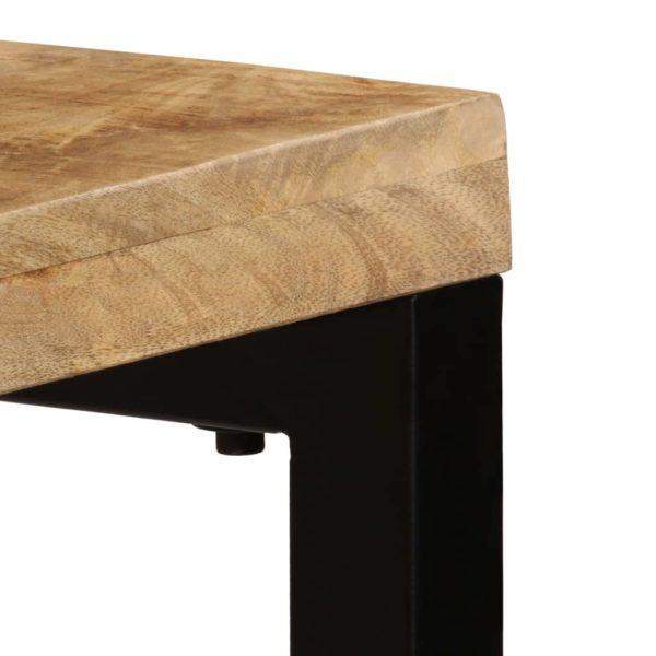 Konsolentisch 120 x 35 x 76 cm Mango-Massivholz und Stahl