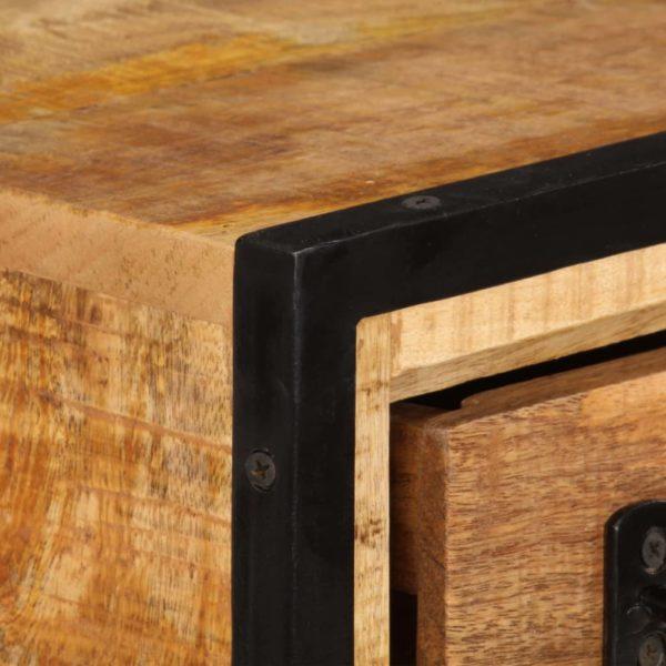 TV-Regal mit Schubladen 120 x 30 x 40 cm Massivholz Mango