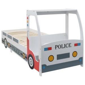 Kinderbett im Polizeiauto-Design mit Schreibtisch 90 x 200 cm