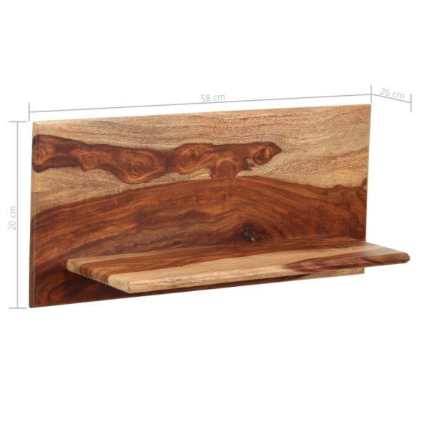 Wandregale 2 Stk. 58 x 26 x 20 cm Massivholz