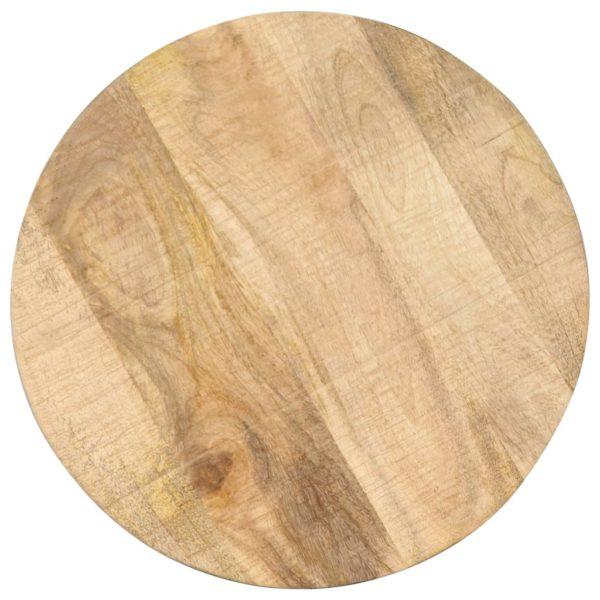 Beistelltisch 45 x (45-62) cm Massivholz Mango und Gusseisen