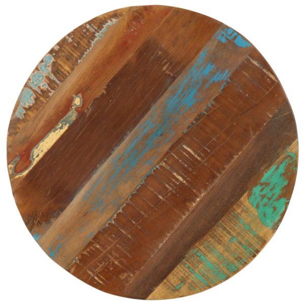 Beistelltisch 45x(45-62) cm Recyceltes Massivholz und Gusseisen