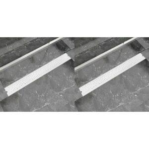 Lineare Duschrinnen 2 Stk. Blasen 930 x 140 mm Edelstahl