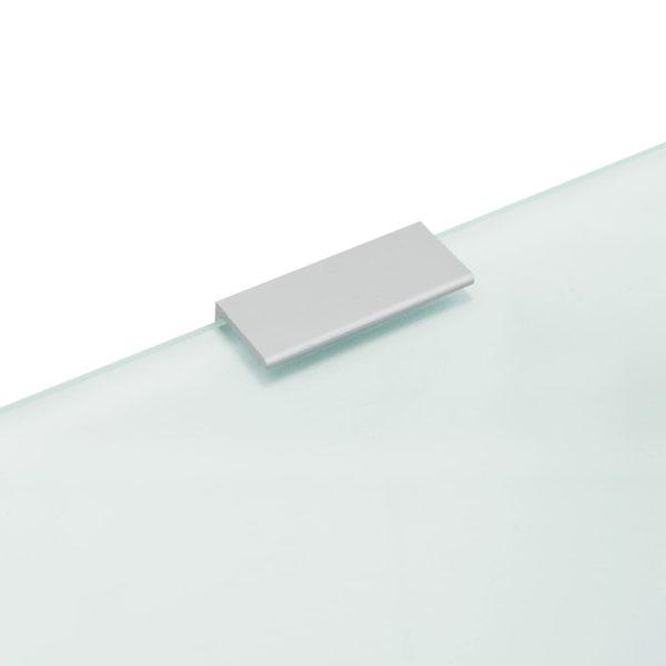 Urinal-Trennwand Wandmontage 90 x 40 cm Hartglas