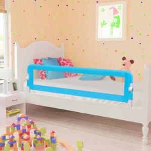 Kleinkind-Bettschutzgitter Blau 120×42 cm Polyester
