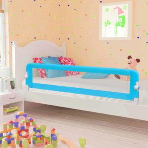 Kleinkind-Bettschutzgitter Blau 180×42 cm Polyester