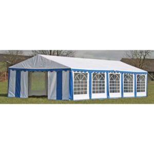 Ersatzdach Dachplane Zeltdach Seitenteile Pavillon 10 x 5m Blau & Weiß