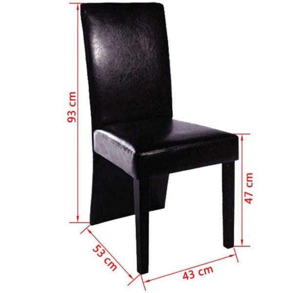 Esszimmerstühle 6 Stk. Schwarz Kunstleder