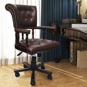 Drehstuhl Bürostuhl chesterfield Ledermix