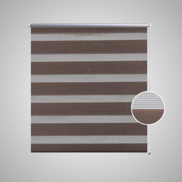 Doppelrollo Seitenzug Duo 80 x 150 cm coffee