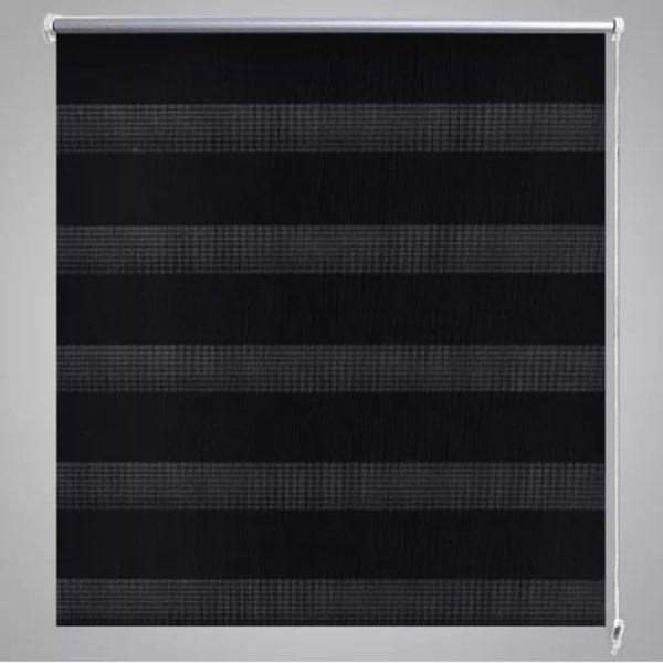 Doppelrollo Seitenzug Duo Rollo 80 x 175 cm schwarz