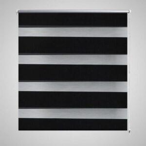 Doppelrollo Seitenzug 120 x 175 cm schwarz