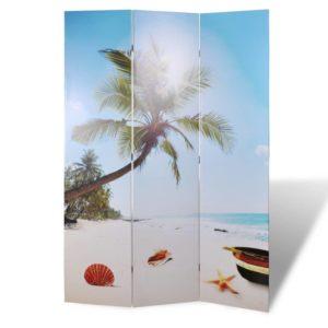 Raumteiler klappbar 120 x 170 cm Strand