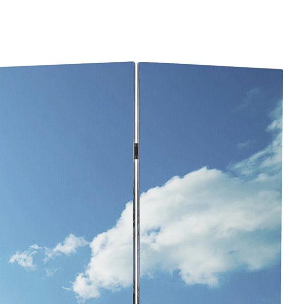 Raumteiler klappbar 200 x 170 cm Strand