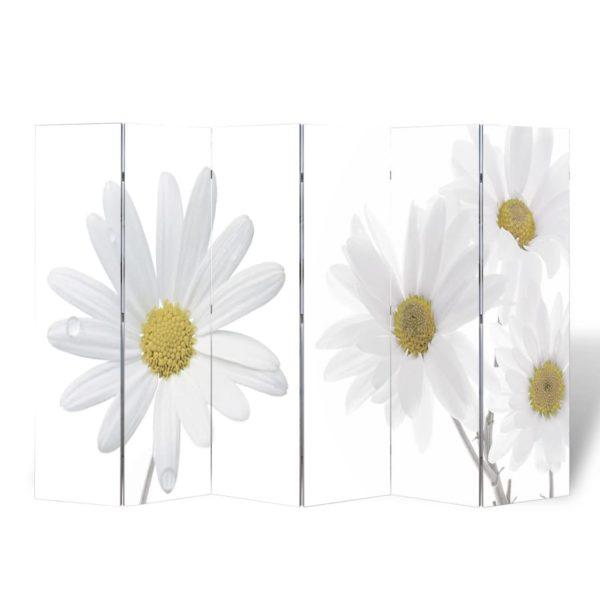 Raumteiler klappbar 240 x 170 cm Blume