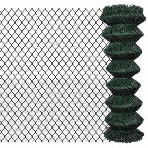 Maschendrahtzaun Verzinkter Stahl 1,25×15 m Grün