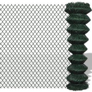 Maschendrahtzaun Verzinkter Stahl 1,5×15 m Grün