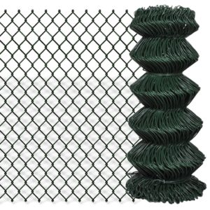 Maschendrahtzaun Verzinkter Stahl 0,8×25 m Grün