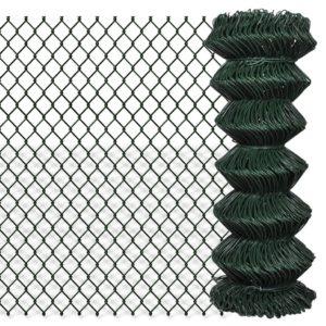 Maschendrahtzaun Verzinkter Stahl 1×25 m Grün
