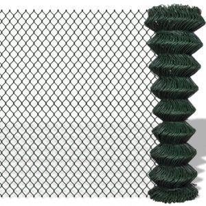 Maschendrahtzaun Verzinkter Stahl 1,5×25 m Grün