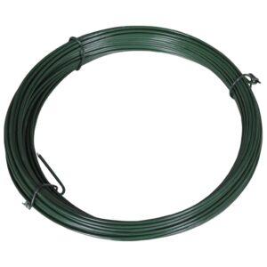 Zaun-Bindedraht 25 m 1,4/2 mm Stahl Grün